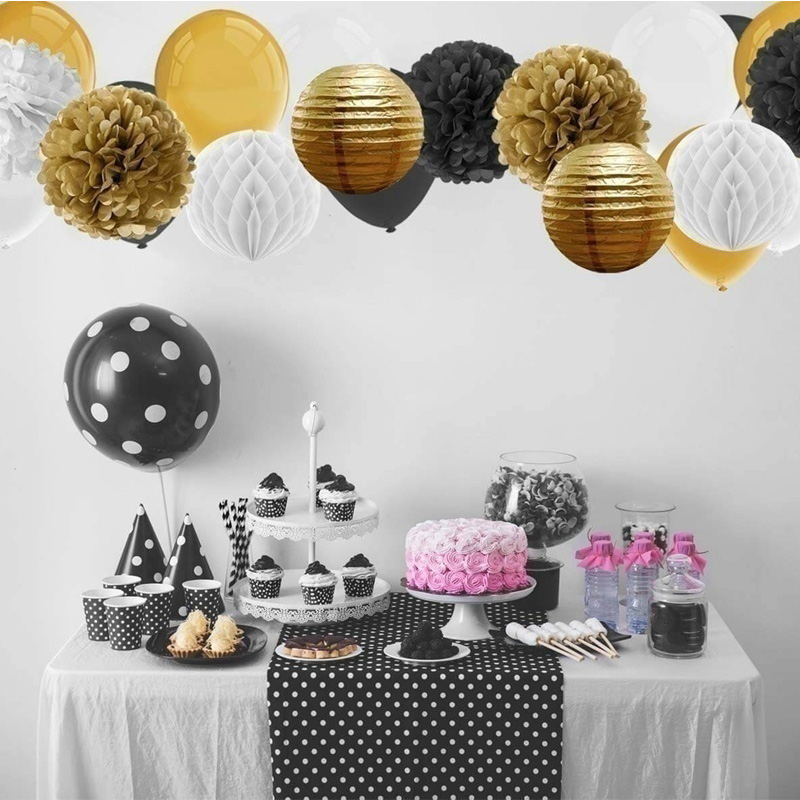 Birthday Party Backdrops DIY Decorations Kids Party Favors Set of Paper Flower Ball Lantern Paper Honeycomb Ball