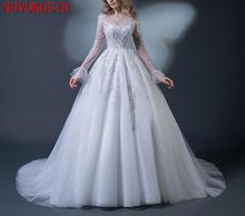 Свадебное платье с высоким горлом и бисером свадебное длинным