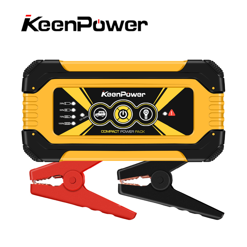 Keenpower 12 V 600A/900A energía de la batería del coche Booster Buster car-stlying dispositivo de arranque Jump Starter alta capacidad