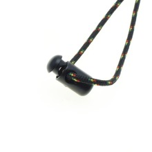 10 шт./упак. пластиковая Бочкообразная пружина шнур замки Стопперы тумблер зажимы черный 21 мм* 8 мм