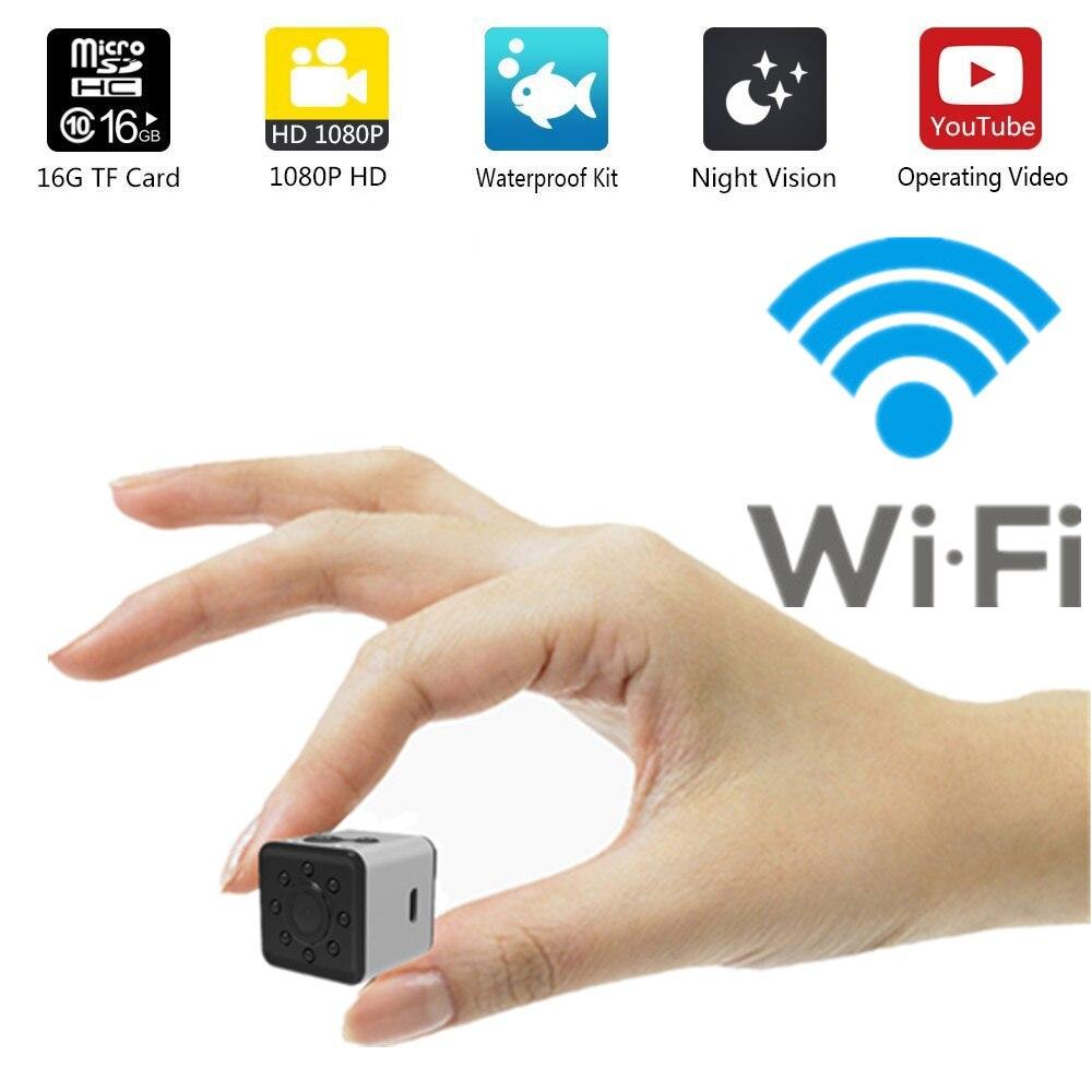 WI-FI SQ13 HD mini WI-FI câmera pequena câmera cam 1080 p mini dv DVR câmera de vídeo sem fio À Prova D' Água Esporte micro filmadoras SQ 13