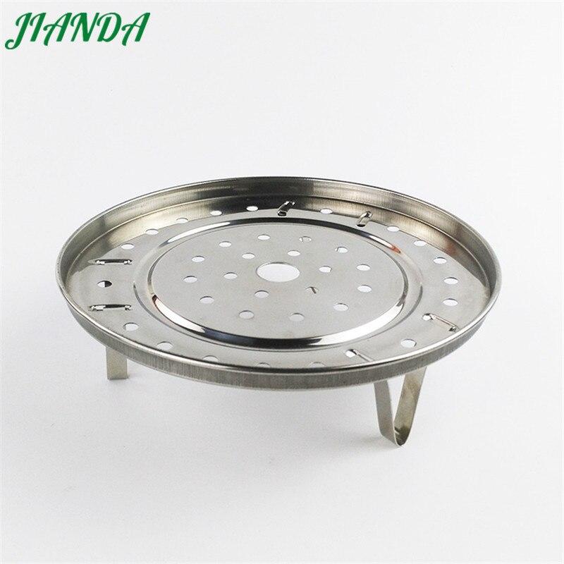 JIANDA Stainless Steel Steamer Plate Collapsible Steaming Fish Poacher Food Vegetable Basket Cooking Microwave Draining Rack
