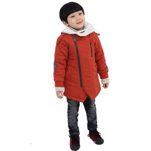 Image 3 - Winter Jacket For Boy Fashion Kids Casual Jackets Boys Cashmere Long Sleeve Hooded Coats Warm Boys Clothing Outwears Jackets