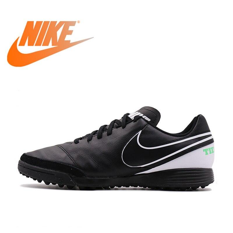 c09cee7c78 Original Oficial GENIOII NIKE TIEMPO TF Sapatos de Futebol dos homens À  Prova D  Água
