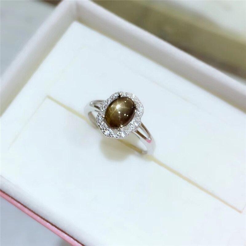 Bague élégante en saphir étoile naturelle WEAINY, véritable argent Sterling S925, bijoux de qualité supérieure pour anniversaire de fête de pierres précieuses pour femme - 3