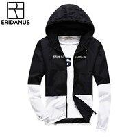 2017 otoño nueva chaqueta hombres moda de alta calidad chaqueta delgada chaqueta con capucha causal masculino cremallera ropa 4XL 5XL X405