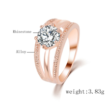 New Women's Fashion Wedding Ring Silver Color Ring Jewelry Multilayer Round Zircon Crystal Rings For Women Anel PD22