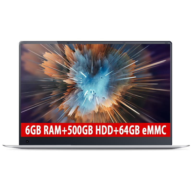 Amoudo 15.6inch 6GB RAM+500GB HDD+64GB eMMC Intel Quad Core