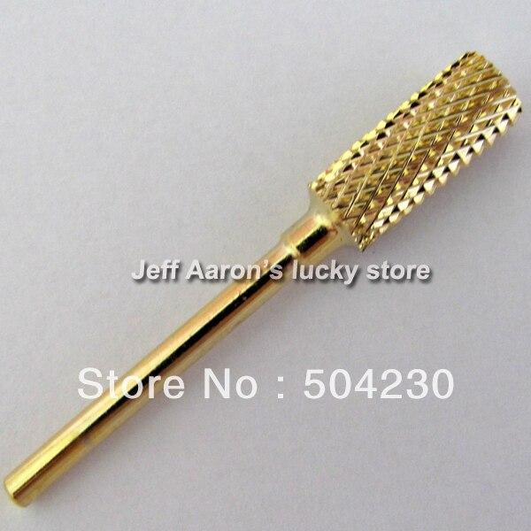 1PC Professional Gold coated Titanium Carbide Nail Drill Bits Set ...