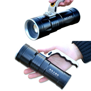 Image 5 - Zoomable 10W LED 4000Lm Rechargeable Flashlight Torch Lantern Portable Light hand lamp Use 2x18650 AC Car USB Chargr