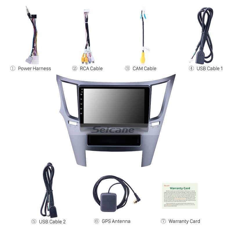 Seicane 車ラジオマルチメディアビデオプレーヤーナビゲーション GPS アンドロイド 8.1 スバルアウトバック 2010 2011 2012-2016 サポートミラーリンク