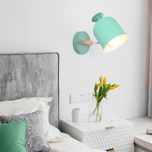 HAWBERRY LED modern minimalist interior lighting home pink little cute round style girl bedroom bedside study wall lamp