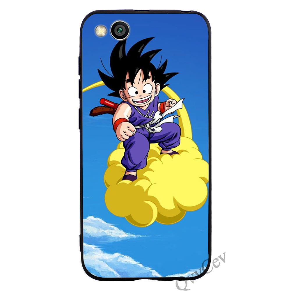 Shockproof Dragon Ball Goku Phone Cover for Xiaomi Mi 8 Case A1 A2 Lite 6 F1 Soft in Fitted Cases from Cellphones Telecommunications