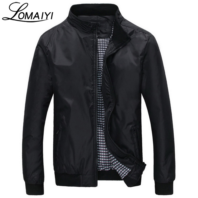 LOMAIYI Fashion Male Jacket Coat Men 2017 Spring Business Casual Clothes Boss Thin Windbreaker Mens <font><b>Black</b></font> <font><b>Bomber</b></font> Jackets,BM041
