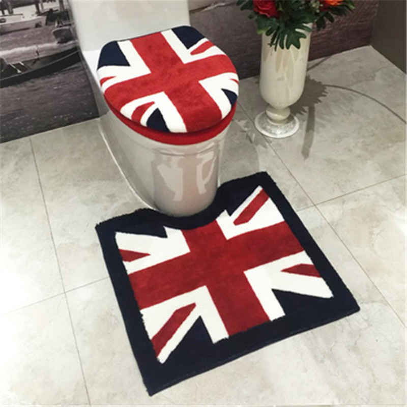 3pcs set Bathroom Essentials Toilet Seat Cover Black White Red Flag Bathroom Rug Cover Mat. Compare Prices on Black Bathroom Rug Set  Online Shopping Buy Low