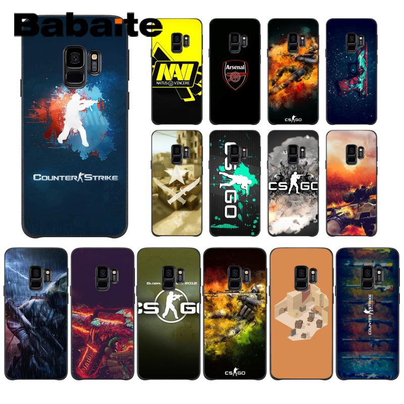 Babaite Counter Strike cs go Novelty Fundas Phone Case Cover For Samsung Galaxy S4 S5 S6