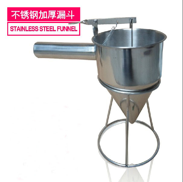 Stainless Steel Waffle Pancake Batter Dispenser Batter Hopper Taiyaki Tools egg liquid batter dispenser waffle hopper takoyaki ice pop making tool distributor full stainless steel