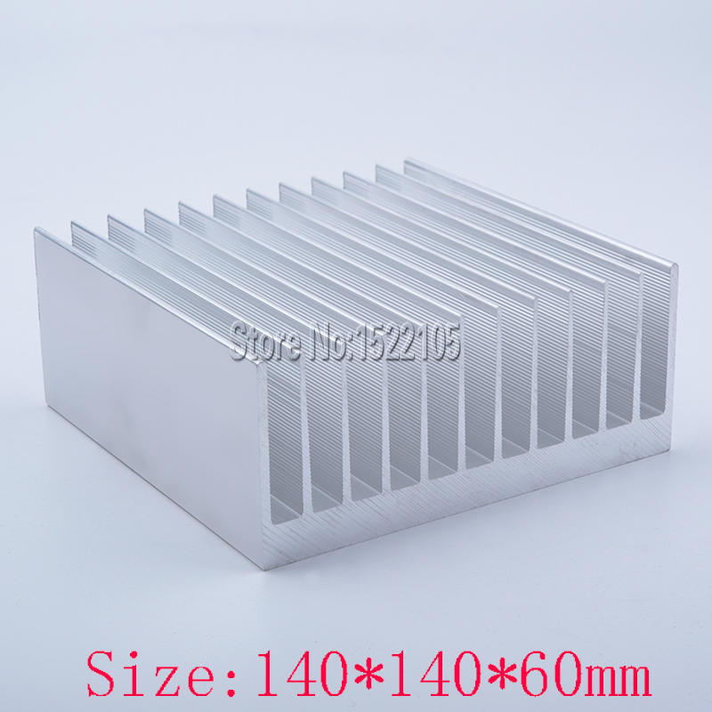 Heatsink 140x140x60mm super-thick Aluminum heatsink heat sink high power radiator for cooling 1 pcs aluminum radiator heat sink heatsink 60mm x 60mm x 10mm black