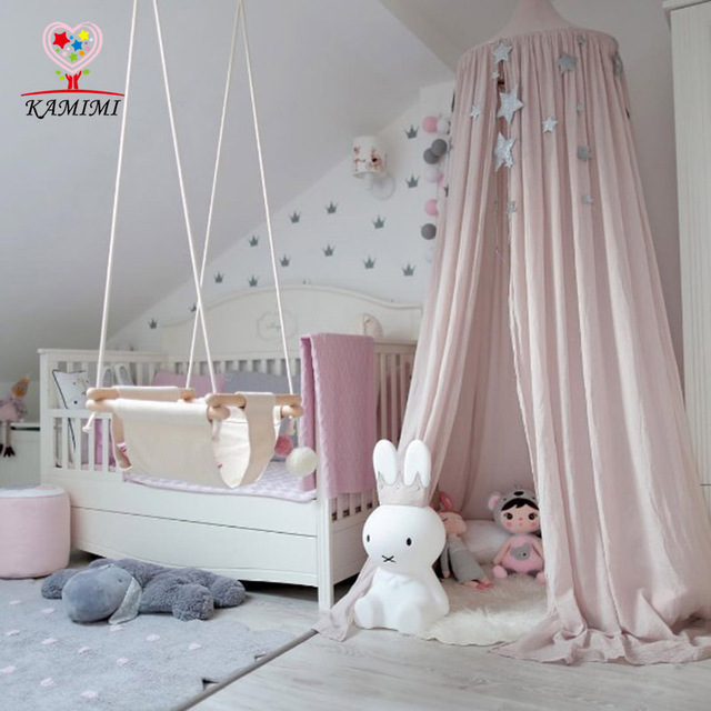 Kamimi 2017 Baby Tent Crib Netting Palace Children Room Bed Curtain Hung Dome Mosquito Net Cotton & Kamimi 2017 Baby Tent Crib Netting Palace Children Room Bed ...