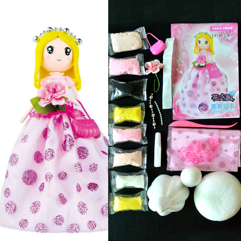DIY Slime Toys Slime Supplies Soft Clay The Princess Doll With Dress Handwork Birthday Toys For Girl DOLLRYGA Slime Supplies