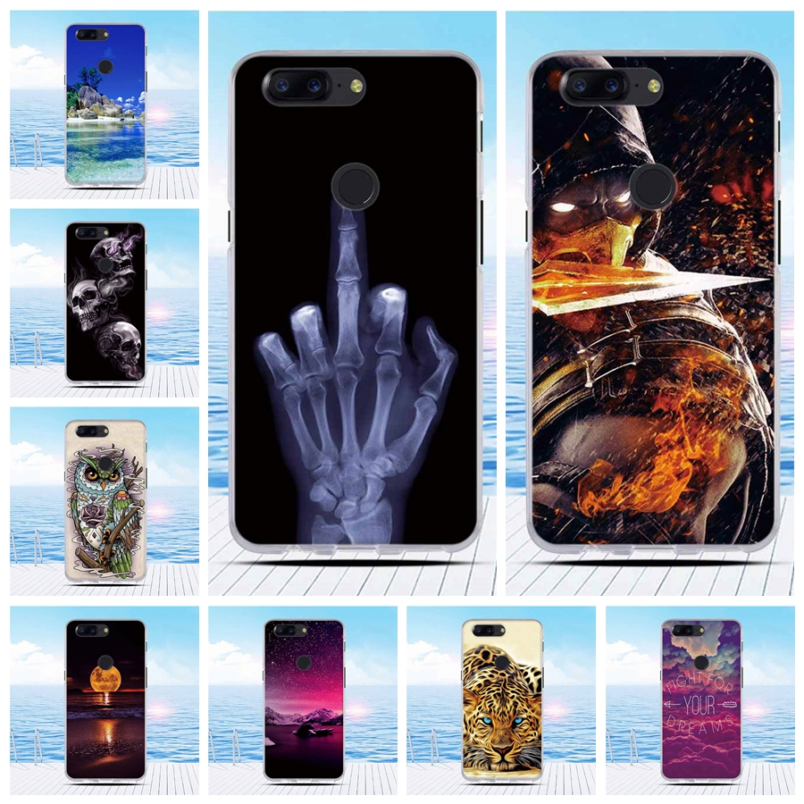 For OnePlus 5T Case Soft S Line Drawing Soft Silicone TPU Gel Cover Skin Case For One Plus 5T Phone Funda Cases Cover Bags
