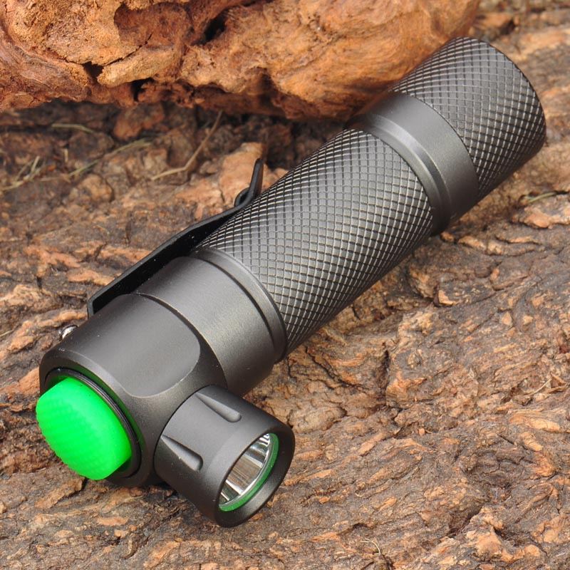 TrustFire Z2 5-Mode 280lm Memory White light LED Flashlight - Grey with Clip fit for 14500/AA Battery trustfire 3 led 3 mode 1100lm cool white light bike light grey purple 2 8 4 2v