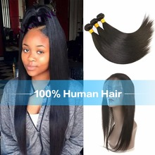 Charming Brazilian Virgin Hair 8A Straight Hair 3 Pcs Weft & 1 pc 360 Lace Closure Bundles With 360 Lace Closure