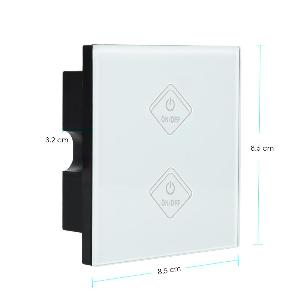 EU/UK Standard 1/2/3/4 Channel Smart Touch Wall Switch,AC 110V 220V Touch Switch Tempered Glass 86 type Wall Room Remote Switch