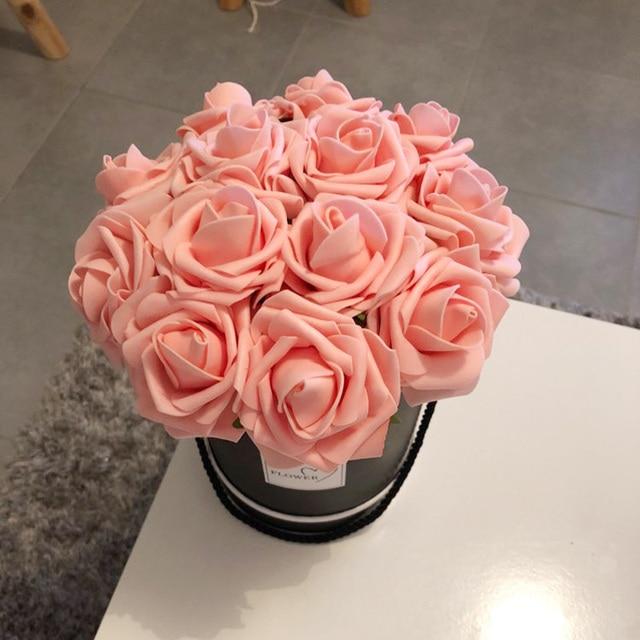 Aliexpress Com Buy Pe Foam Artificial Rose Flowers For Wedding