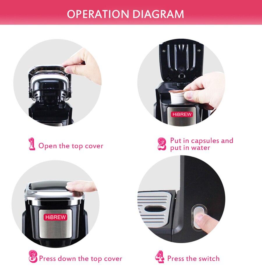 Seamoy mini cápsula americana máquina de café