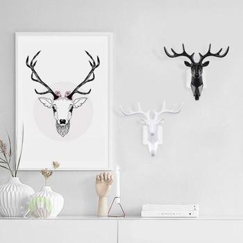 Deer Head wall hook Animal Self Adhesive Clothing Display 1