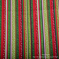 Red Green Polka Dots Stripes Printed 100 Cotton Christmas Fabric Festival Holiday Decoration Tissue By Yard