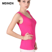 HOT Selling Women Tank Top Casual Fashion Slim Tank Breathable Summer New Arrival U-neck Solid Color Big Yards Women Tank