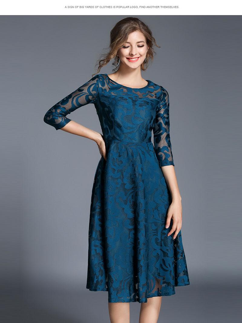 Borisovich New 18 Spring Fashion England Style Luxury Elegant Slim Ladies Party Dress Women Casual Lace Dresses Vestidos M107 14