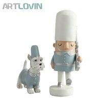 1 Set European Nutcrackers Decorative Resin Royal Escort Police Patrol Dog Statues Creative Figurine Home Decoration Accessories