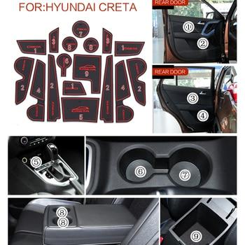 Alfombrilla de goma para Hyundai Creta IX25 con ranura para puerta de 17 Uds.