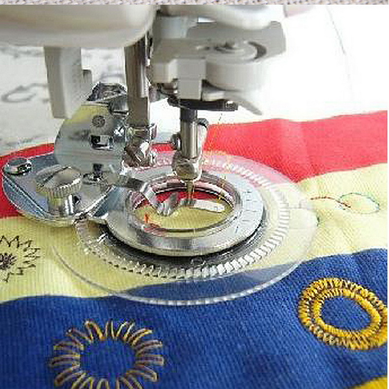 Купить с кэшбэком Flower Stitch Presser Feet Foot for Household Domestic Sewing Machines Parts Fits All Low Shank Singer Brother Babylock