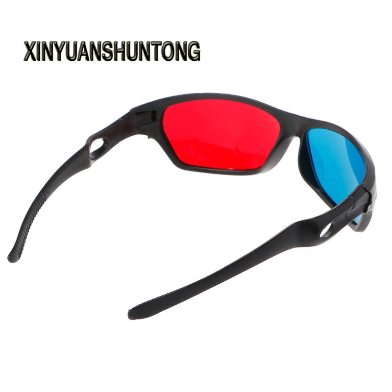 XINYUANSHUNTONG 3D Glasses Universal White Frame Red Blue Anaglyph 3D Glasses For Movie Game DVD Video TV