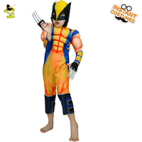 Children Muscle Wolverine Costumes Boys Brave Superman Cosplay Fancy Dress Masquerade Halloween Party Movie Hero Role Play Sets