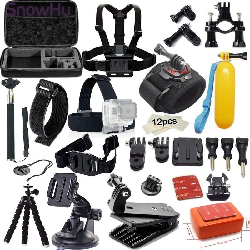 Snowhu для GoPro Интимные аксессуары набор подходит для Go Pro Hero 5 5S 4 4S 3 3 + 2 1 xiaomiyi 2 SJCAM SJ4000 sj5000 экшн-камеры gs05