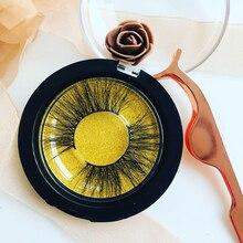 25MM 3D New Fake False Eyelashes 100% Lashes Handmade Reusable Natural Eyelashes Popular Comfort Black Stalk Slender Eyelash недорого