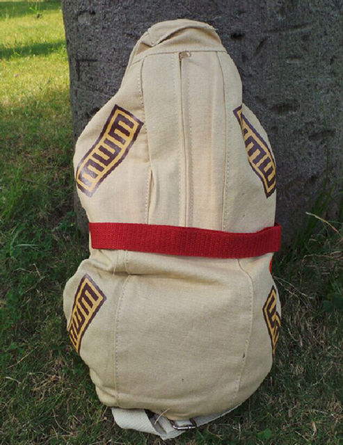 Anime Naruto Gaara Cosplay Gourd Backpack Canvas Sling Shoulder Bag Soft Satchel Small Kids Student Chest Bags Purse Collection 2