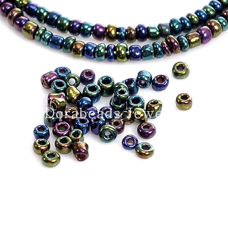 Doreen box hot 100g multicolor glass beads seed beads 10 for Natural seeds for jewelry making