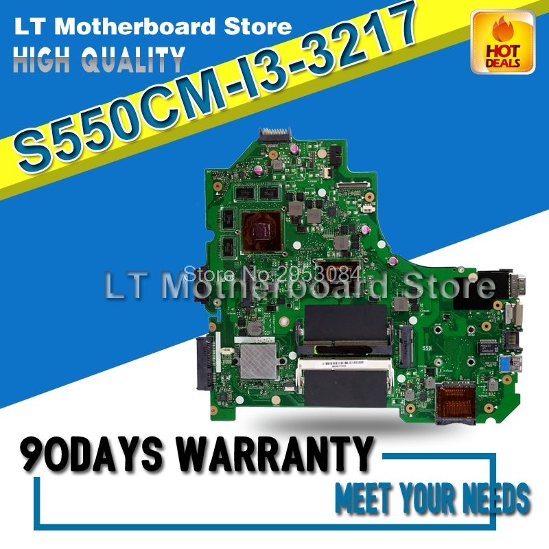 For ASUS S56C S56CM K56C K56CM S550C S550CM i3 Laptop Motherboard System Board Main Board Card Logic Board Tested Well S-4 d05021b maine board fittings of a machine tested well original