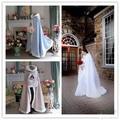 Branco / marfim pele do inverno jaqueta com capuz , casacos de pele envoltório capa xale de casamento Shurg