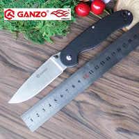 58-60HRC Ganzo G727M 440C G10 lub drewna uchwyt składany nóż Survival narzędzia kempingowe myśliwski scyzoryk kieszonkowy taktyczne edc narzędzia do pracy na zewnątrz