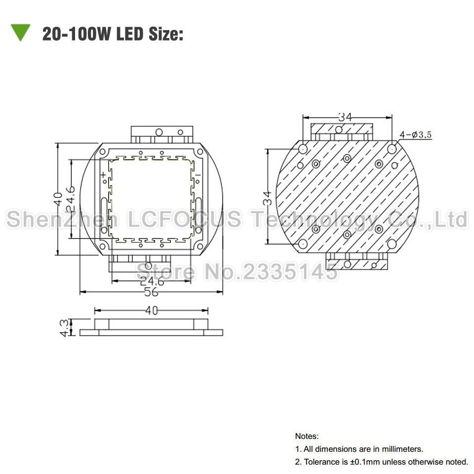 medium resolution of high power led chip 100w yellow 590 595nm smd cob diode for 100 200 300 500 w watt outdoor wall floodlight light beads aliexpress com imall com