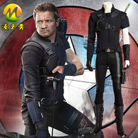 Captain America Civil War Hawkeye Cosplay Costume For Adult Men Outfit Clinton Francis Barton Costume Halloween Carnival Apparel
