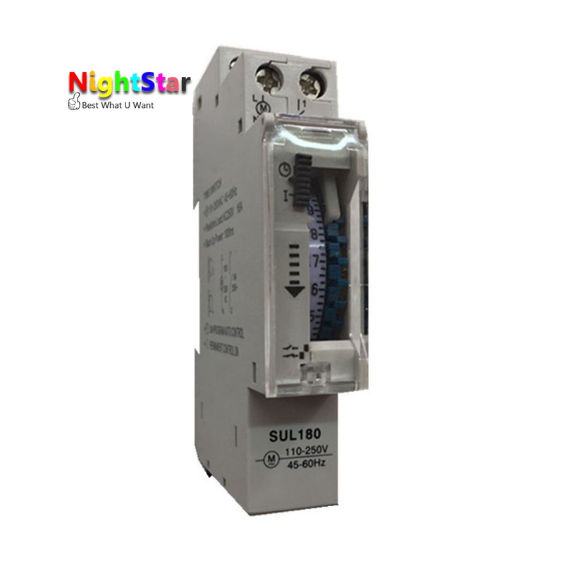 SUL 180A 15 Minutes Mechanical Timer 24 Hours Programmable Din Rail Timer Time Switch Relay Measurement Analysis Instruments time frequency analysis
