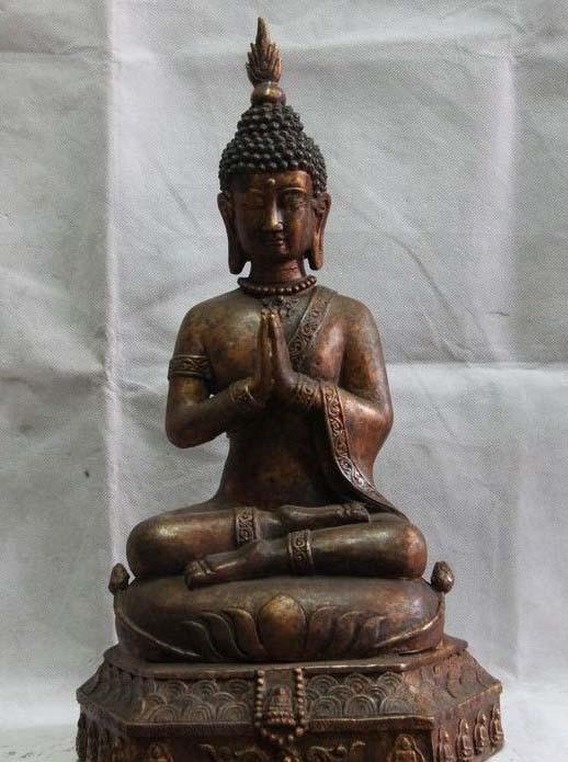 Bouddhisme tibétain Bronze cuivre Tathagata thaïlande Sakyamuni Amitabha Statue de bouddha